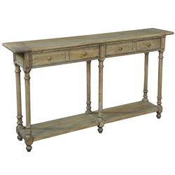 Joseph Rustic Lodge Reclaimed Wood Brass Knob Console Table | Kathy Kuo Home