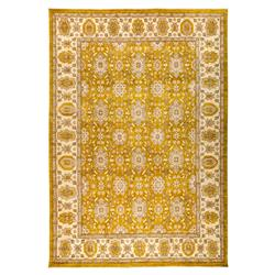 Justina French Beige Goldenrod Wool Rug - 10'3 x 14'9 | Kathy Kuo Home