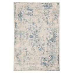 "Kaleb Modern Blue Beige Gold Floral Medallion Pattern Rug - 7'6"" x 9'6"" 