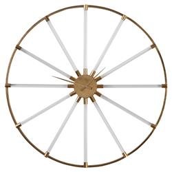 Kat Modern Regency Acrylic Tube Gold Wall Clock | Kathy Kuo Home