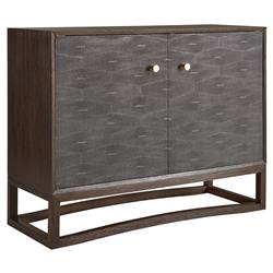 Kellan Regency Grey Shagreen Tobacco Accent Chest | Kathy Kuo Home