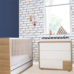 Kids Comic Book Blue Removable Wallpaper | Kathy Kuo Home