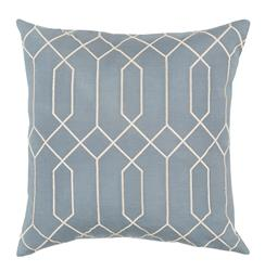 Kylie Hollywood Regency Linen Down Light Blue Pillow - 18x18 | Kathy Kuo Home