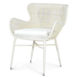 Lacey Modern Classic Cream Outdoor Chair - Salt | Kathy Kuo Home