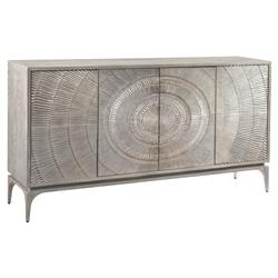 Laila Regency Radiating Silver Grey Oak Sideboard | Kathy Kuo Home
