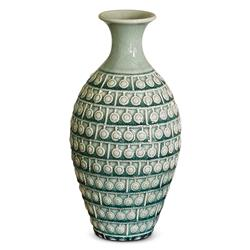 Lakeview Coastal Beach Turquoise Crackle Vase Small | Kathy Kuo Home