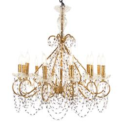 Laney Hollywood Golden Crystal Princess Chandelier | Kathy Kuo Home