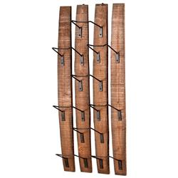 Large Fresno Reclaimed Wood Modern Rustic Wine Bottle Shelf | Kathy Kuo Home