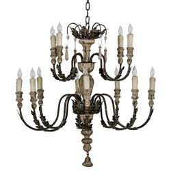 Larraine French Country Formal Oak Rustic Chandelier | Kathy Kuo Home