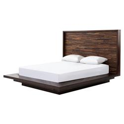 Larson Modern Classic Variegated Wood Headboard Platform Bed - Queen | Kathy Kuo Home