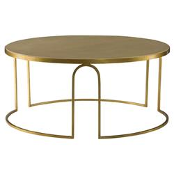 Latrice Regency Cream Vellum Gold Leaf Coffee Table | Kathy Kuo Home