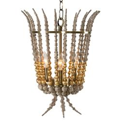 Lavelle Modern French Gold Bead Lantern | Kathy Kuo Home