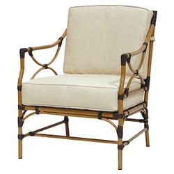Layla Bazaar Brushed Rattan Outdoor Lounge Chair | Kathy Kuo Home