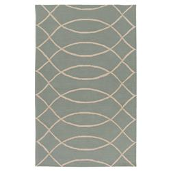 Leo Modern Grey Trellis Hand Hooked Outdoor Rug - 4'x6' | Kathy Kuo Home