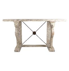 Leonidas French Country Antique Greek Console Table | Kathy Kuo Home