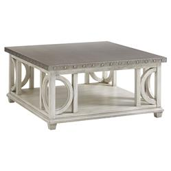 Lexington Litchfield French Country Burnished Stainless Steel Top Coffee Table | Kathy Kuo Home