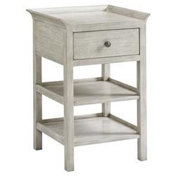 Lexington Pellham Modern 1-Drawer Whitewash Wood  Flared Top Nightstand | Kathy Kuo Home
