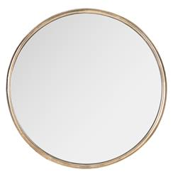 Libby Hollywood Regency Thin Frame Antique Bronze Round Mirror - 18 Inch | Kathy Kuo Home