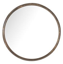 Libby Hollywood Regency Thin Frame Antique Bronze Round Mirror - 14 Inch | Kathy Kuo Home