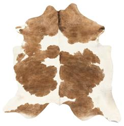 Light Brown White Brazilian Hair on Hide Rug | Kathy Kuo Home