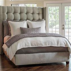Lili Alessandra Gia Modern Ivory Cotton and Silk Bedding Collection | Kathy Kuo Home