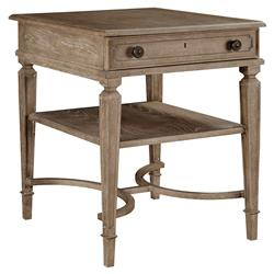 Limoges French Country Maple Veneer Inlay End Table   Kathy Kuo Home