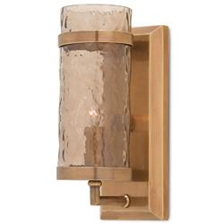 Linwood Modern Classic Copper Wave Glass Wall Sconce | Kathy Kuo Home