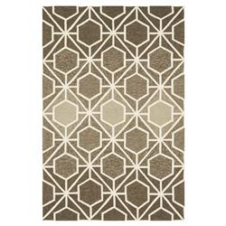 Lita Modern Classic Brown Mocha Retro Outdoor Rug - 3'6x5'6 | Kathy Kuo Home