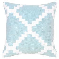 Litz Modern Coastal Graphic Sky Blue Pillow - 18x18 | Kathy Kuo Home