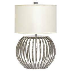 Lonnie Modern Classic Silver Orb Table Lamp | Kathy Kuo Home