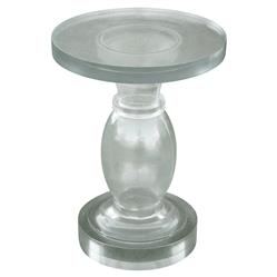 Lorna Oly Clear Round Baluster End Table | Kathy Kuo Home