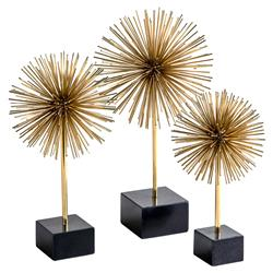 Lucas Modern Classic Brass Burst Urchin - Set of 3 | Kathy Kuo Home