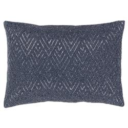 Lusins Global Regency Woven Grey Pillow - 13x19 | Kathy Kuo Home
