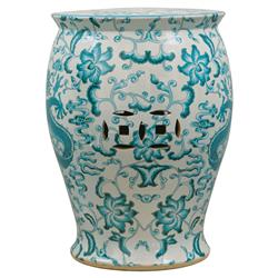 Beautiful Lydia Global Bazaar Turquoise Dragon Motif Porcelain Garden Stool | Kathy  Kuo Home