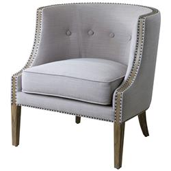Lyla Modern Classic Soft Grey Hammered Barrel Back Chair | Kathy Kuo Home