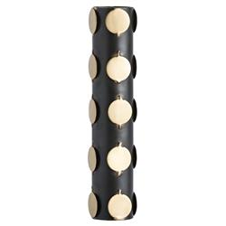 Mabel Modern Dotted Gold Bronze Tube Vase | Kathy Kuo Home