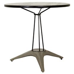 Maddock Industrial Loft Round Iron Cafe Table | Kathy Kuo Home