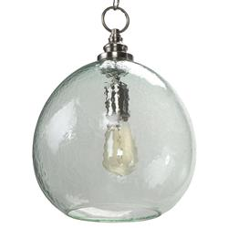Madeira Coastal Beach Recycled Glass Float Pendant | Kathy Kuo Home