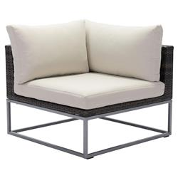 Madeline Modern Classic Aluminum Outdoor Sectional Corner Chair | Kathy Kuo Home