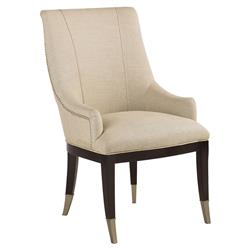 Madeline Modern Classic Upholstered Linen Tall-Backed Dining Chair | Kathy Kuo Home