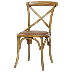 Magritte French Country Antique Oak Cane Bistro Chair | Kathy Kuo Home