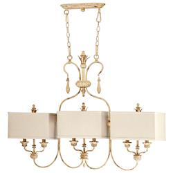 Maison French Country Antique White 6 Light Island Chandelier | Kathy Kuo Home