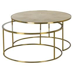 Maison 55 Ringo Modern Classic Round Gold Metal Bunching Coffee Table | Kathy Kuo Home