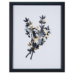 Makalani Paper Shadows Hollywood Regency Gold Foil Floral Print | Kathy Kuo Home