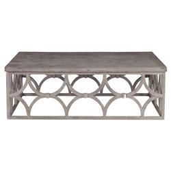 Mara Modern Slate Oak Rectangle Outdoor Coffee Table | Kathy Kuo Home