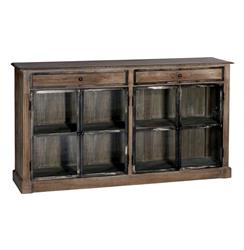 Marco Country Rustic Wood Iron Narrow Cabinet