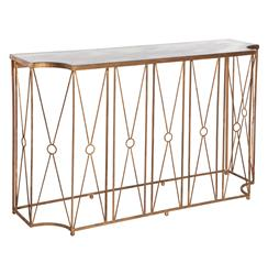 Marlene Hollywood Gold Antique Mirror Console Table | Kathy Kuo Home