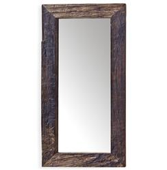 Mawson Rustic Lodge Reclaimed Driftwood Rectangle Mirror | Kathy Kuo Home
