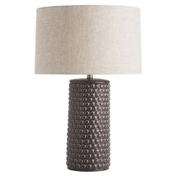 Meadow Charcoal Dotted Ceramic Table Lamp | Kathy Kuo Home