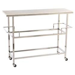 Meadow Modern Classic Marble Top Metal Bar Cart | Kathy Kuo Home